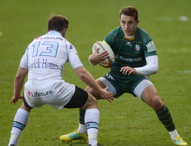180978 - London Irish (green) v Bedford Blues - pics by Paul Johns.Tom Parton.