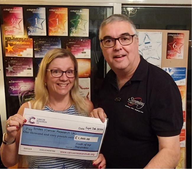 Stuart and Evie Sharp from Winnersh raised £1,380 for Cancer Research UK