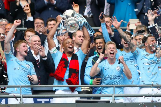 Manchester City lift the FA Cup after beating Watford 6-0