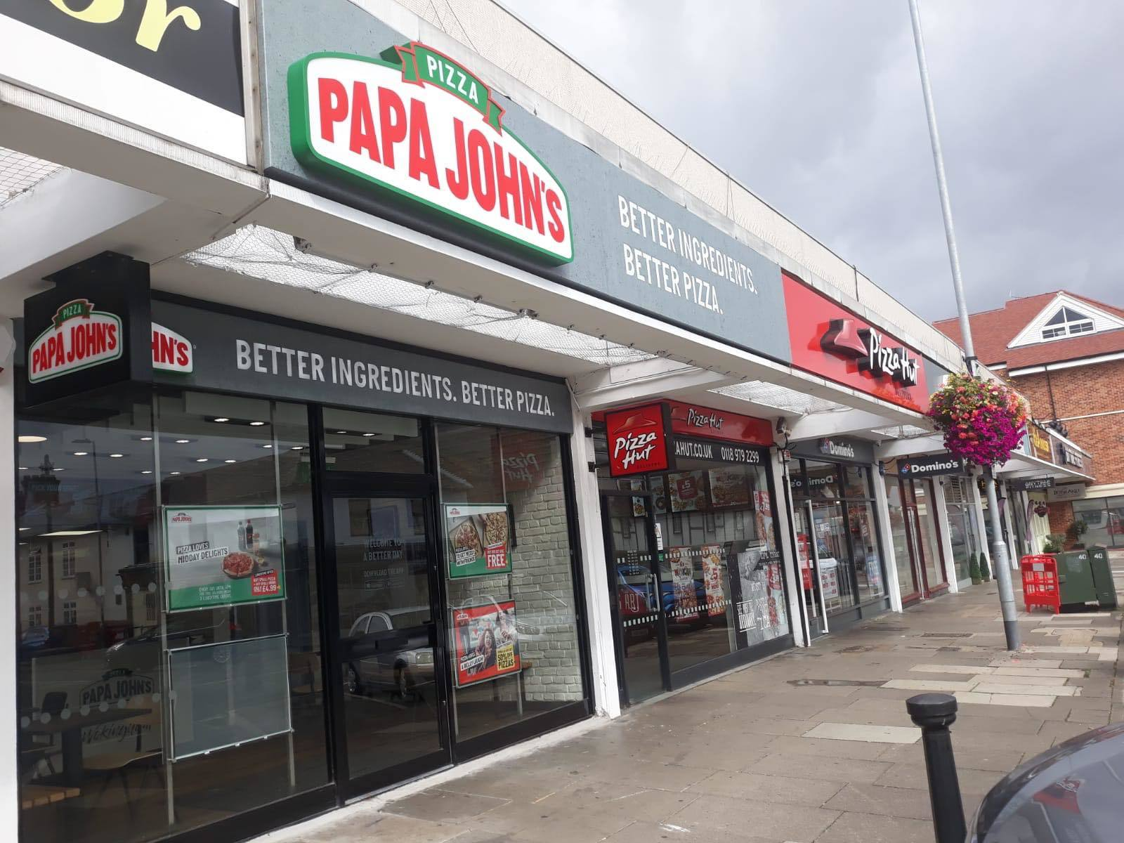 Papa Johns Dominos And Pizza Hut And Next Door Neighbours