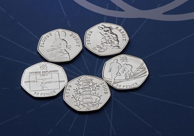 Bracknell News: The rarest 50p coins. Credit: Royal Mint/PA Wire