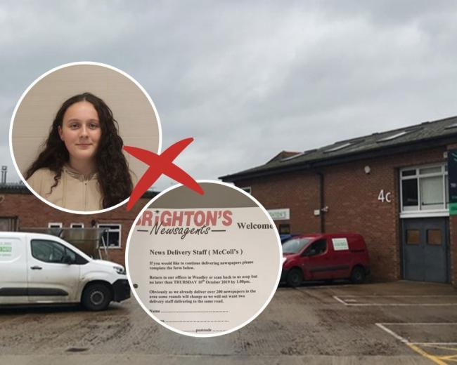 Holly has lost her job from Brighton's Newsagents along with many other paper delivery staff