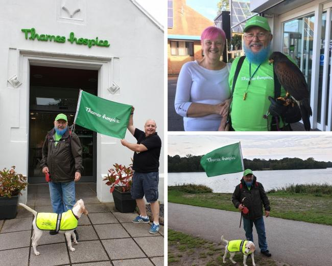 Ian Rose walked five marathons in two weeks for Thames Hospice Raise the Roof fundraiser
