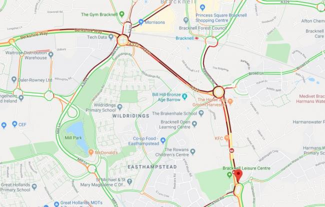 Road closed due to crash - heavy delays expected
