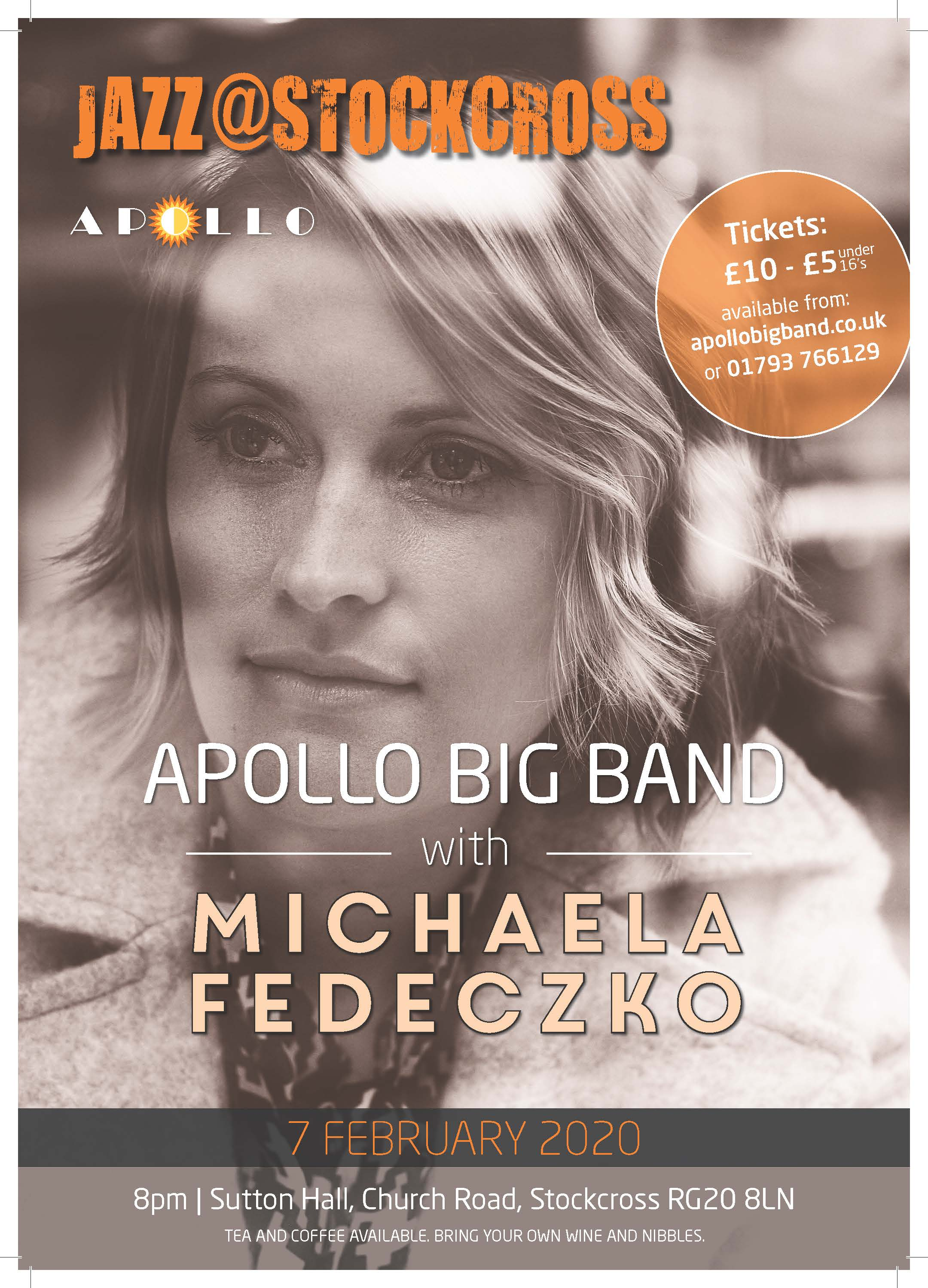 Apollo Big Band with vocalist Michaela Fedeczko