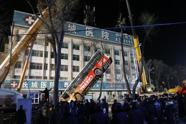 China Road Collapse