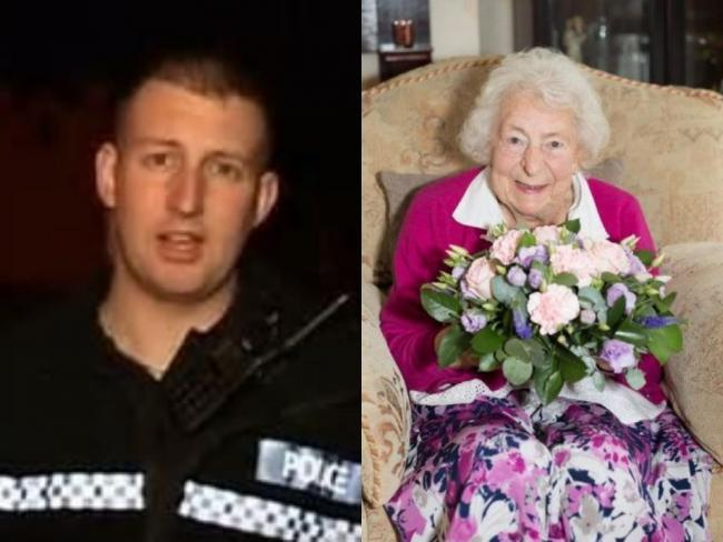 PC James Dixon and Gladys Goodwin died as a result of the crash