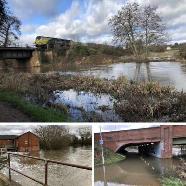Pictures show the extent of the flooding. Pic: @heresthecaptai1
