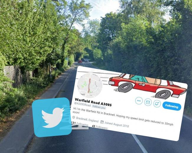 Warfield Roads twitter campaign to get the speed limit reduced to 30mph