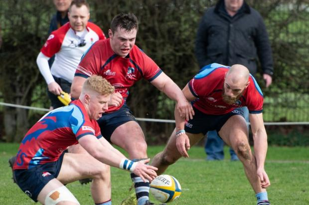 Rams (red) beat Old Elthamians 31-15  Pictures by Tim Pitfield
