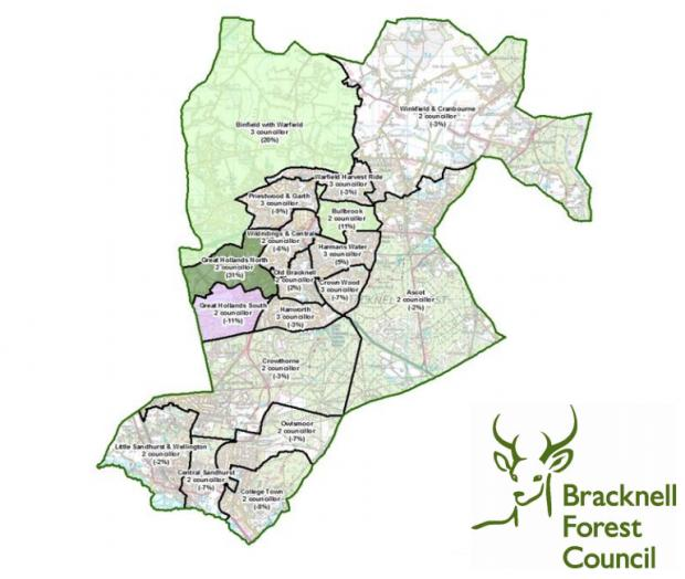 Bracknell News: How the map is currently laid out