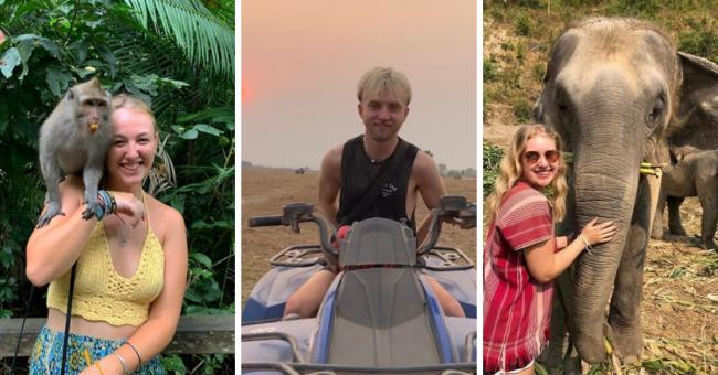 The trio are just a few of hundreds of Brits stranded in Bali at this moment