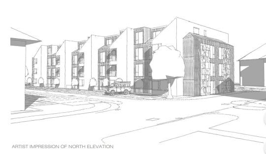 An artist's impression of the block of flats