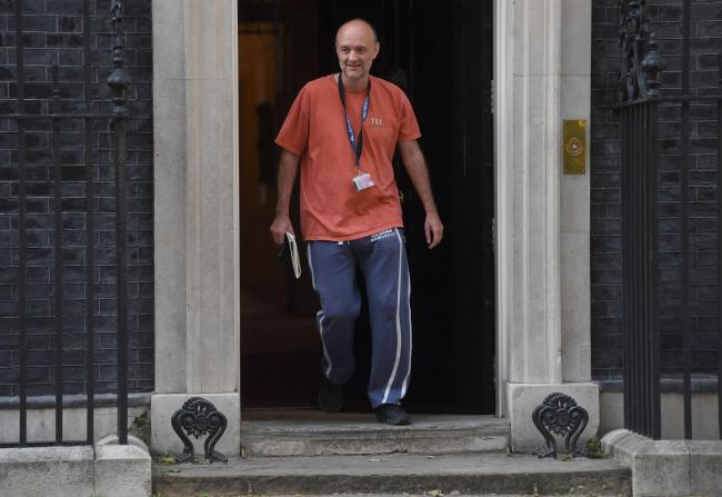 Prime Minister Boris Johnson's senior aide Dominic Cummings leaving 10 Downing Street, London, as lockdown questions continue to bombard the Government after it emerged that he travelled to his parents' home despite coronavirus-related restriction
