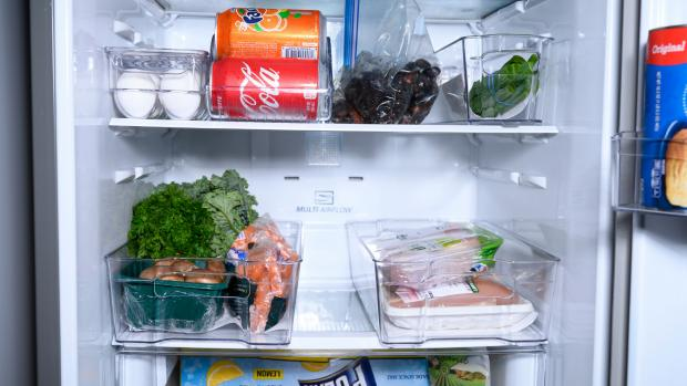 Bracknell News: Use an organising set to create more storage zones in your fridge. Credit: Reviewed / Betsey Goldwasser