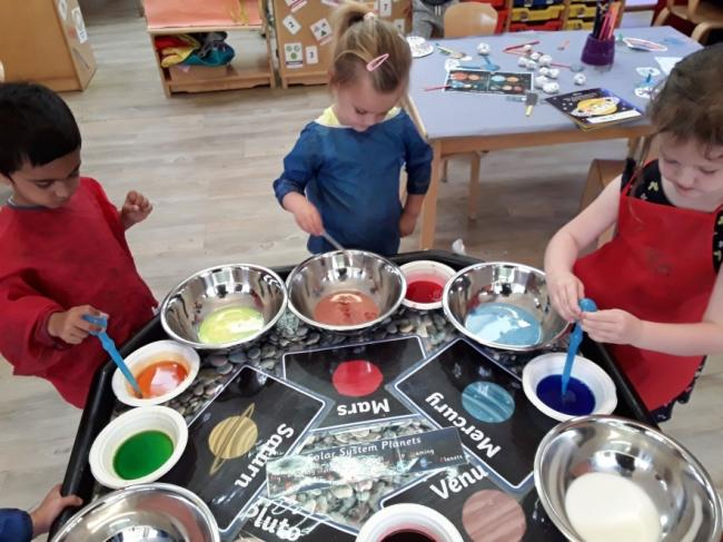Greengables Day Nursery space exploration activity