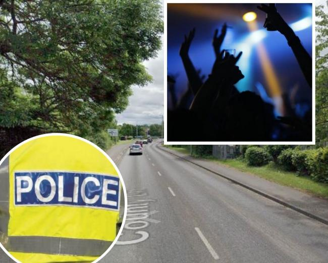 Suspected illegal rave in County Lane