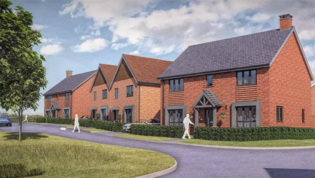 An artist's impression of the 55 home development