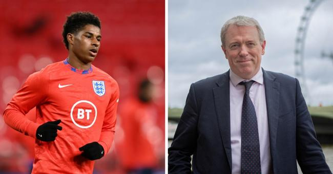 MPs voted on Marcus Rashford's (left) plan to provide kids with free school meals over the holidays, but Conservatives including James Sunderland (right) voted against the scheme.