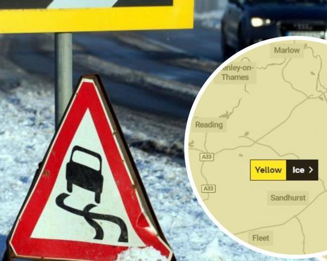 Ice weather warning for Berkshire