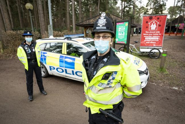 Covid marshals have been patrolling Bracknell with Thames Valley Police to make sure people are following the rules