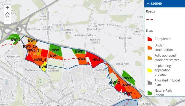 Bracknell News: Major development of North Wokingham.  Credit: Wokingham Borough Council