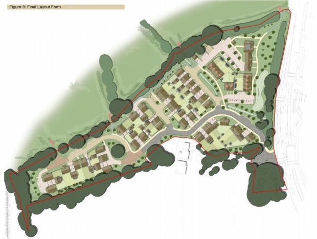 Bracknell News: The plan of 54 houses at St Anne's Drive, Wokingham.  Credit: STA Associates / Maisons Beaulieu