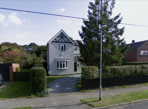 Bracknell News: 92 College Road, Sandhurst.  The owners want to build four semi-detached three-bedroom houses on their land.  Credit: Google Maps