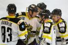 Milan Kostourek, far right, was on target for Bees last weekend.
