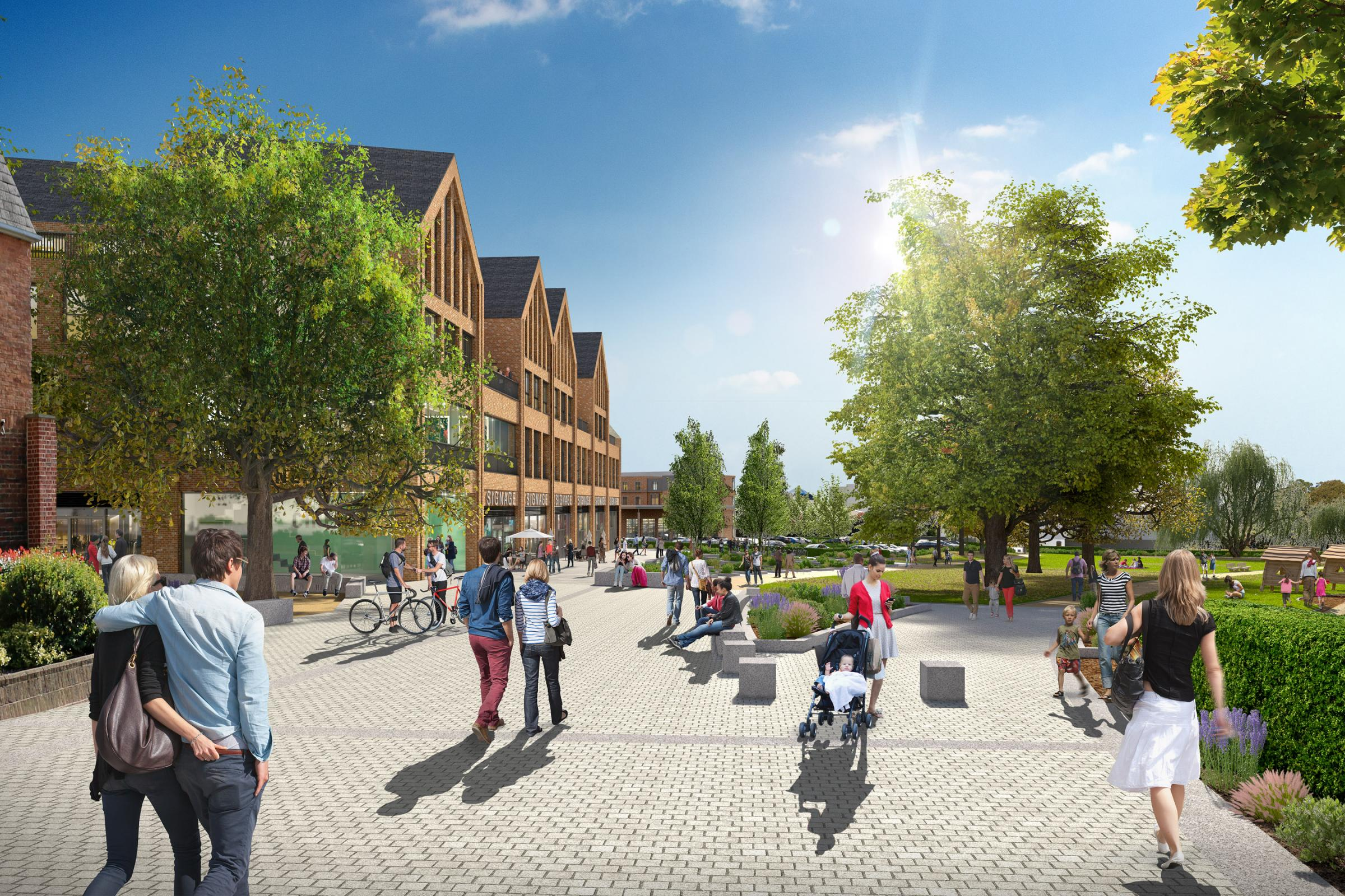 Works to start in earnest at town centre site