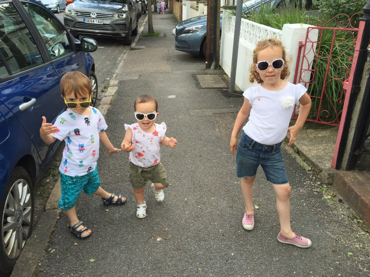 The Catanzariti kids ready for summer