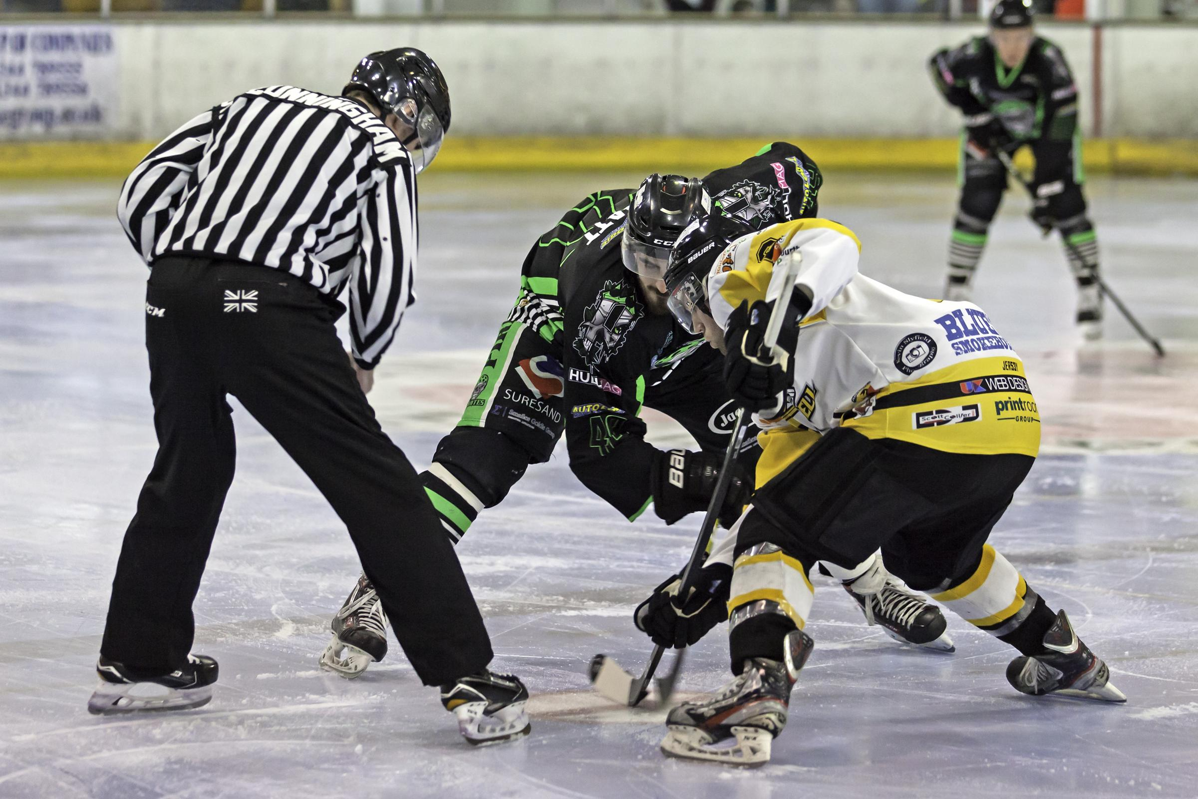 Action from Bracknell Bees' 3-1 defeat to Hull Pirates   Pictures by Kevin Slyfield Photography - www.flickr.com/photos/k_sly
