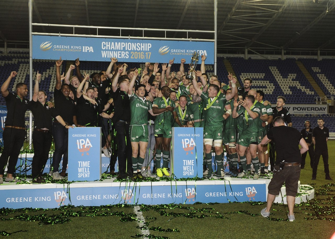 London Irish are back in the Premiership after winning the Championship back in May