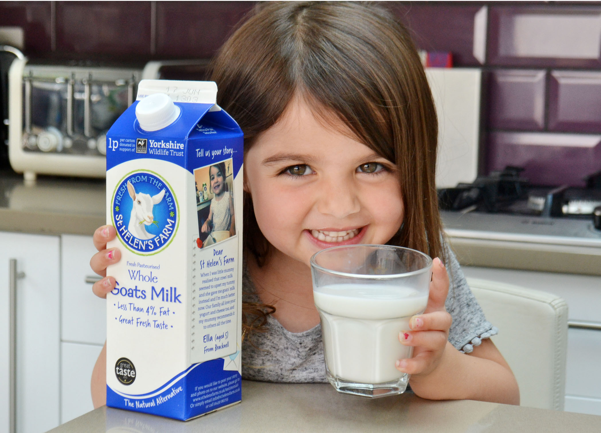 Ella Love, the new face of goat's milk