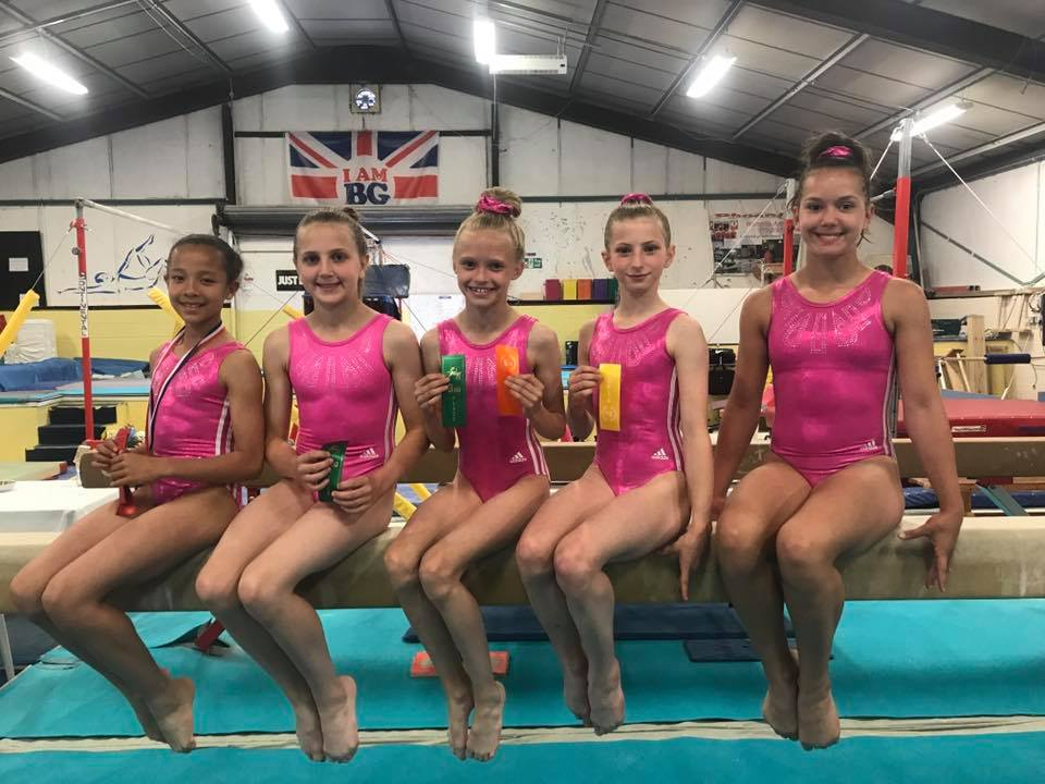 Pinewood Gymnasts With Their Medals