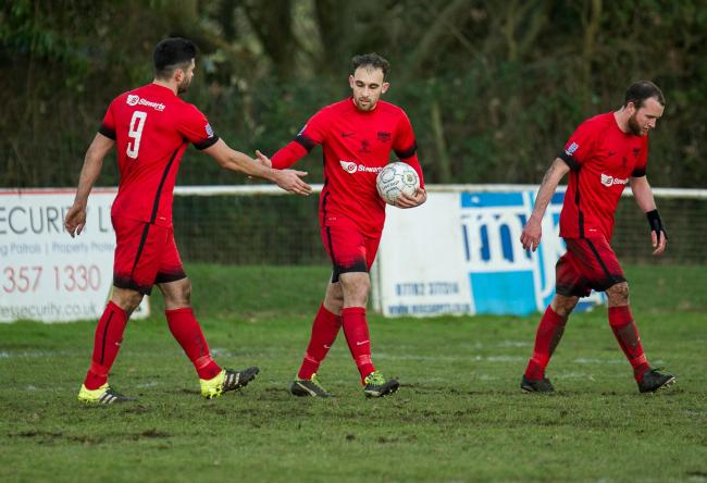 Liam Ferdinand scored for Bracknell Town on Tuesday night   Picture by Colin Byers
