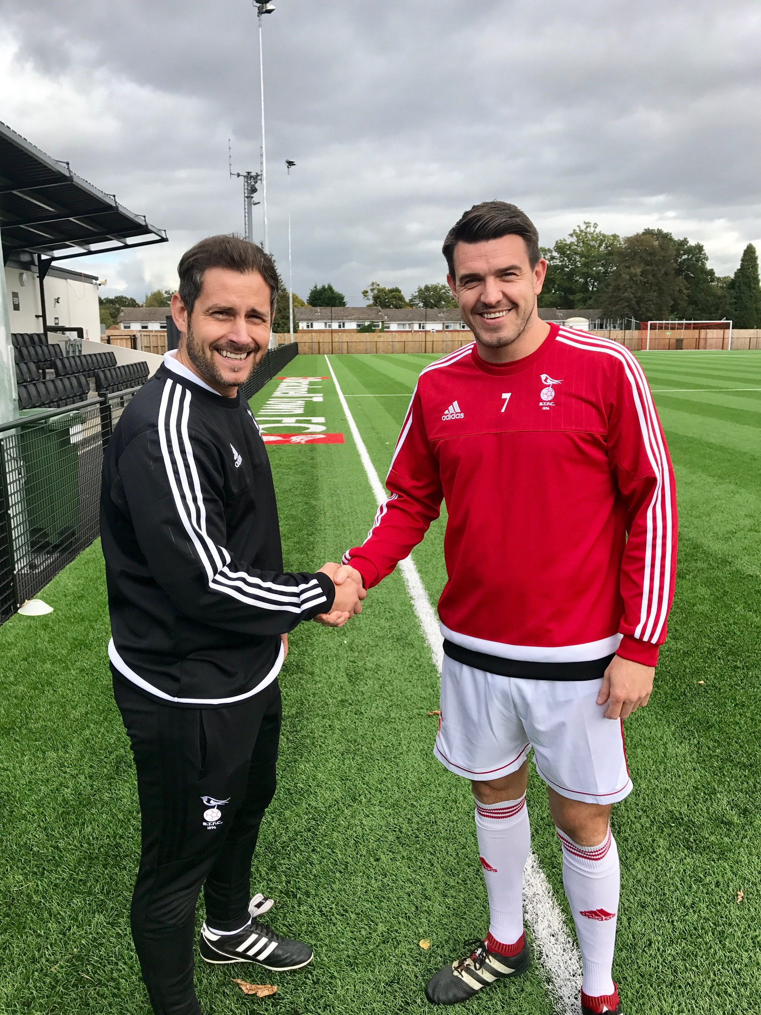 Bracknell Town manager Jeff Lamb and captain Carl Davies