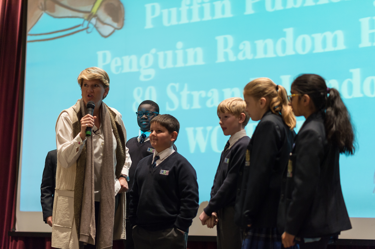 Clare Balding thrills students at Ascot school