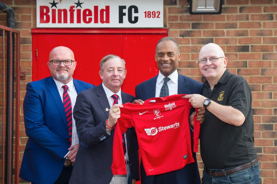 Adam Afriyie (third right) was on hand to open the refurbished changing rooms