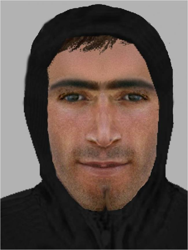 An e-fit of the man police are currently searching for