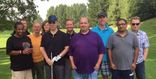 Blind and visually impaired golfers took part in a clinic at Sand Martins.