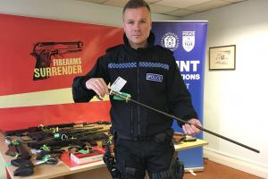 Hundreds of firearms surrendered to Thames Valley Police in two weeks