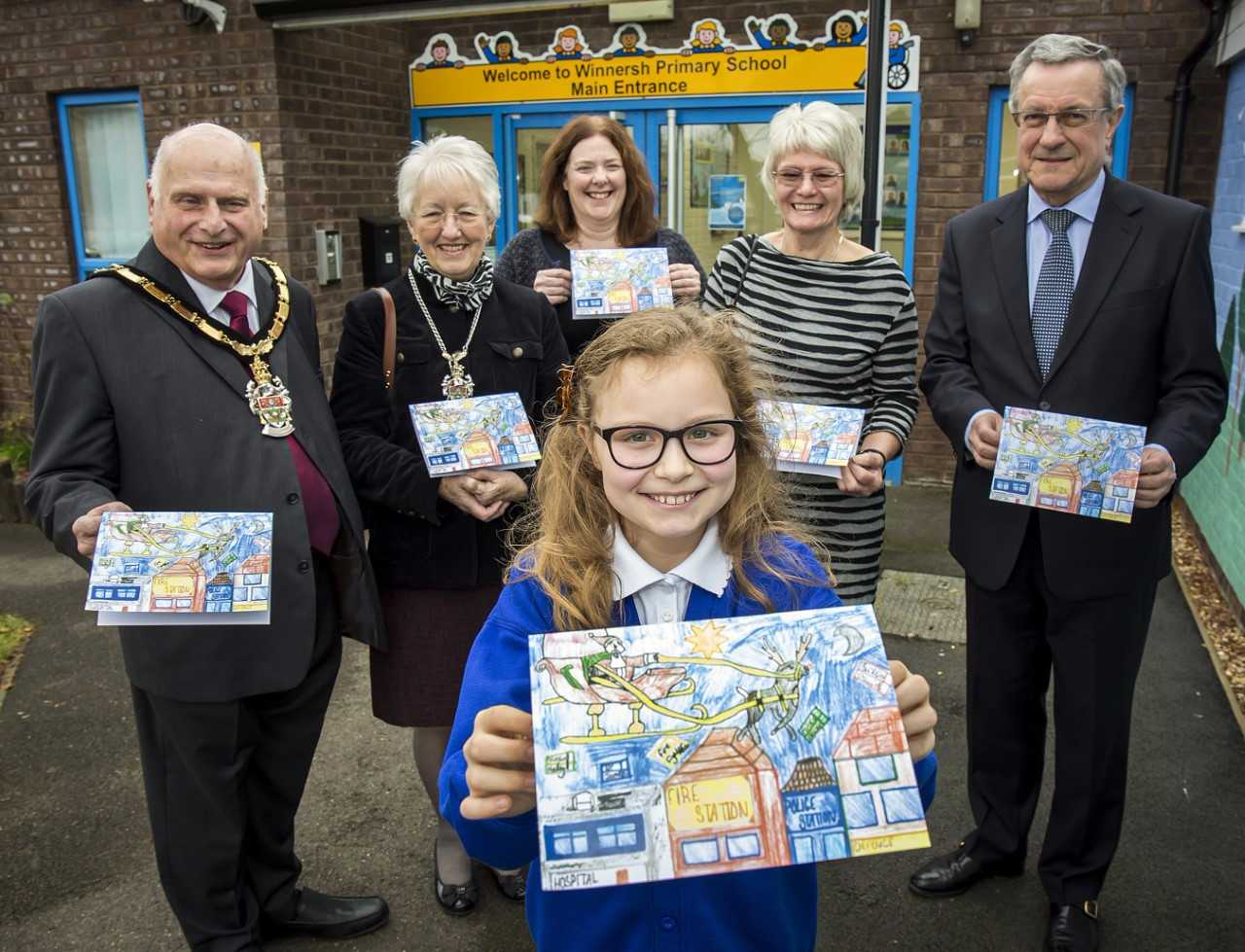 War hero remembered in Mayor's Christmas card designed by school children
