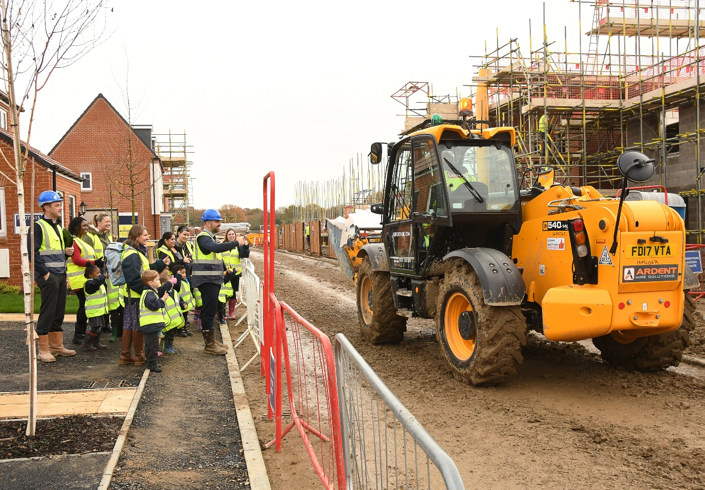 Children learn importance of site safety on tour of new development