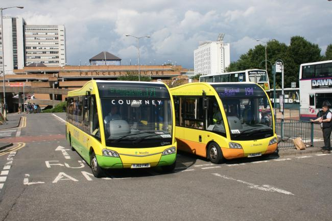 Courtney Busses at Bracknell bus station