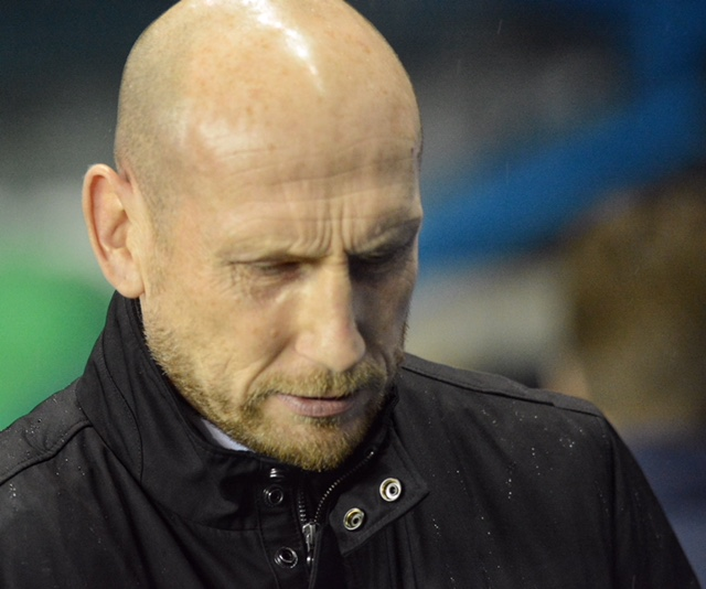 The disappointment is etched on Jaap Stam's face after defeat to Birmingham City. Pictures: Mike Swift.