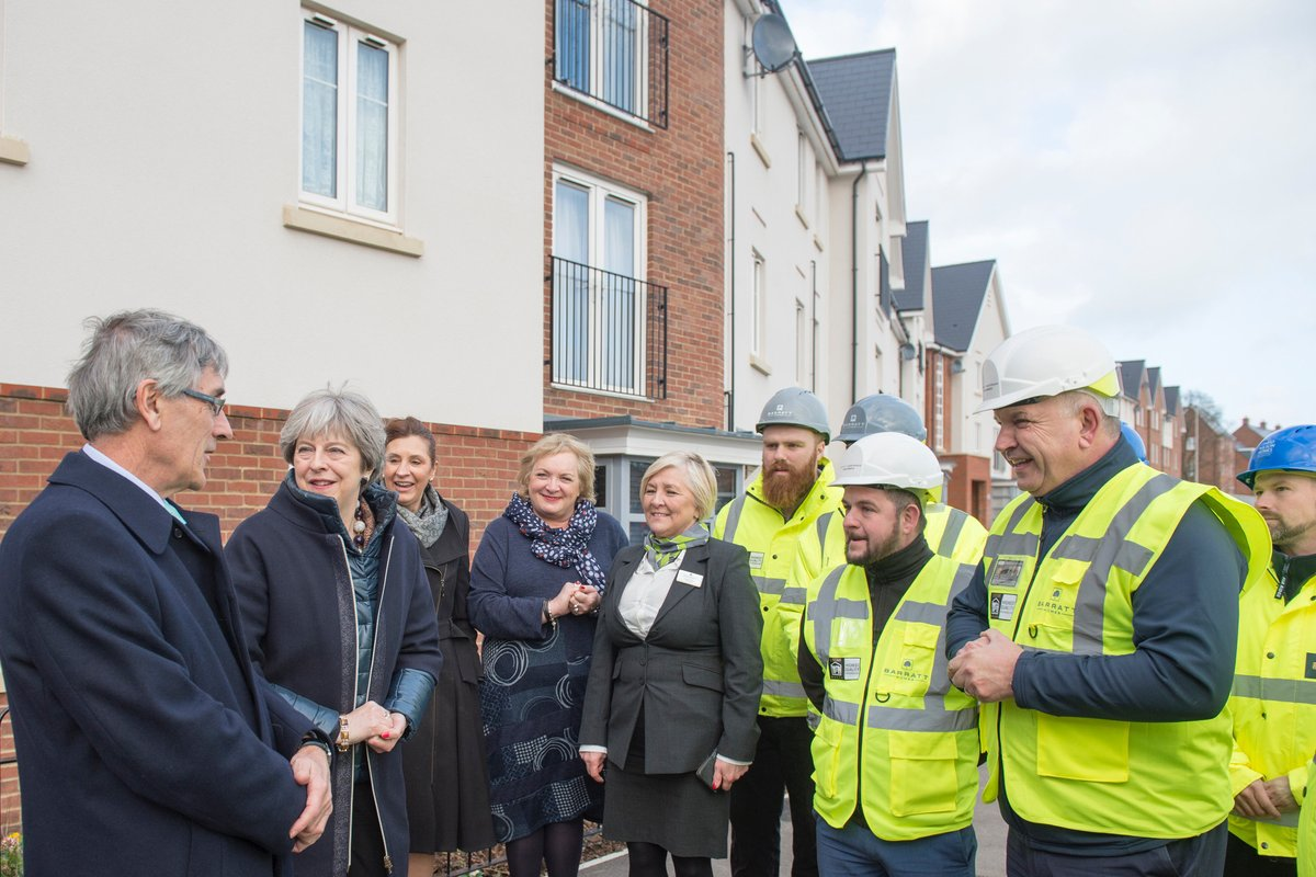 Town MP meets Prime Minister during tour of housing