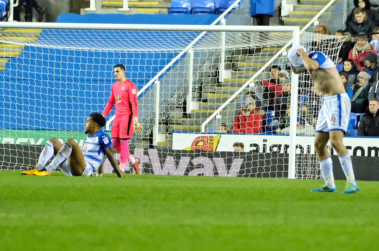 Reading's players looked shellshocked after losing at home to Burton in December.