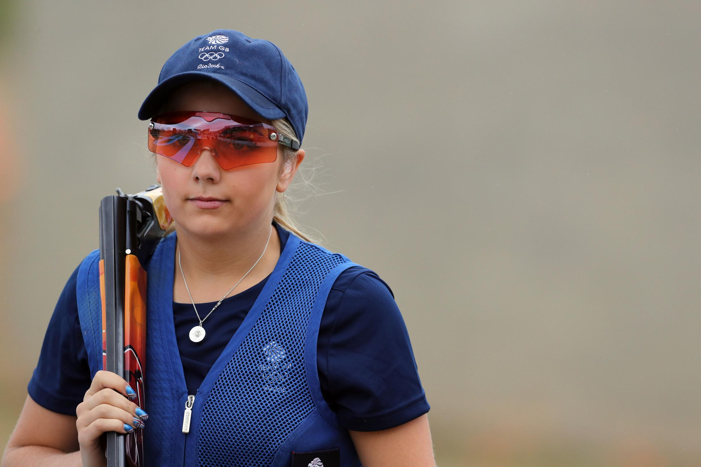 Binfield skeet shooter, Amber Hill. Picture: Owen Humphreys/PA Wire.