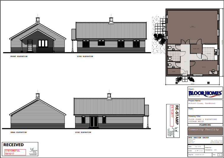 The community centre which will be erected on site
